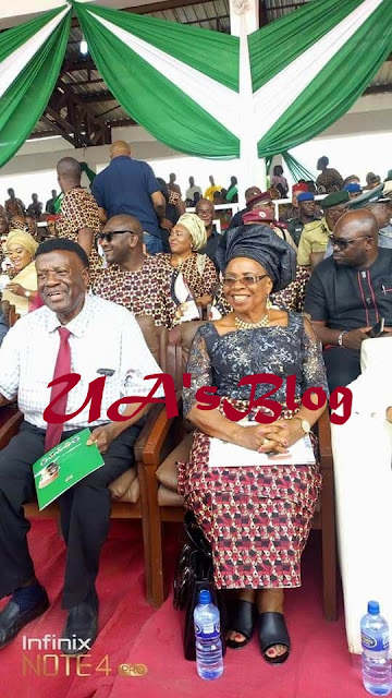 After Many Years.. See New Look Of Former Anambra State Governor Chinwoke Mbadinuju At Alex Ekwueme's Burial (Photos)