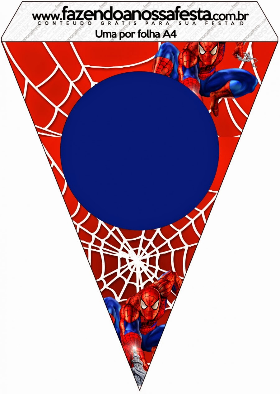 Spiderman Free Printable Banners.