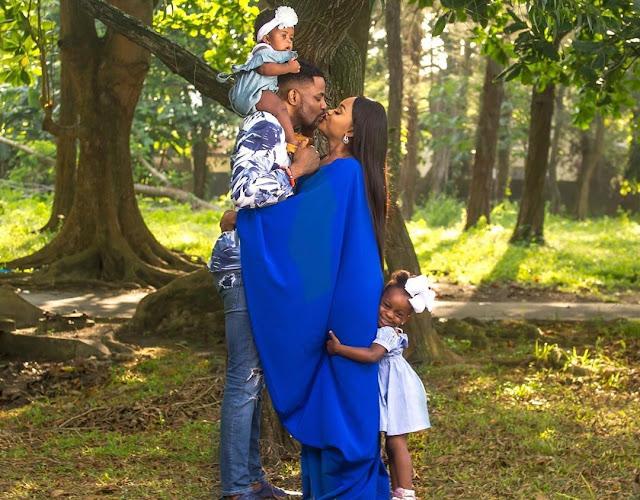 See Adorable Photo Of Ebuka Obi's Daughter Feeding Him