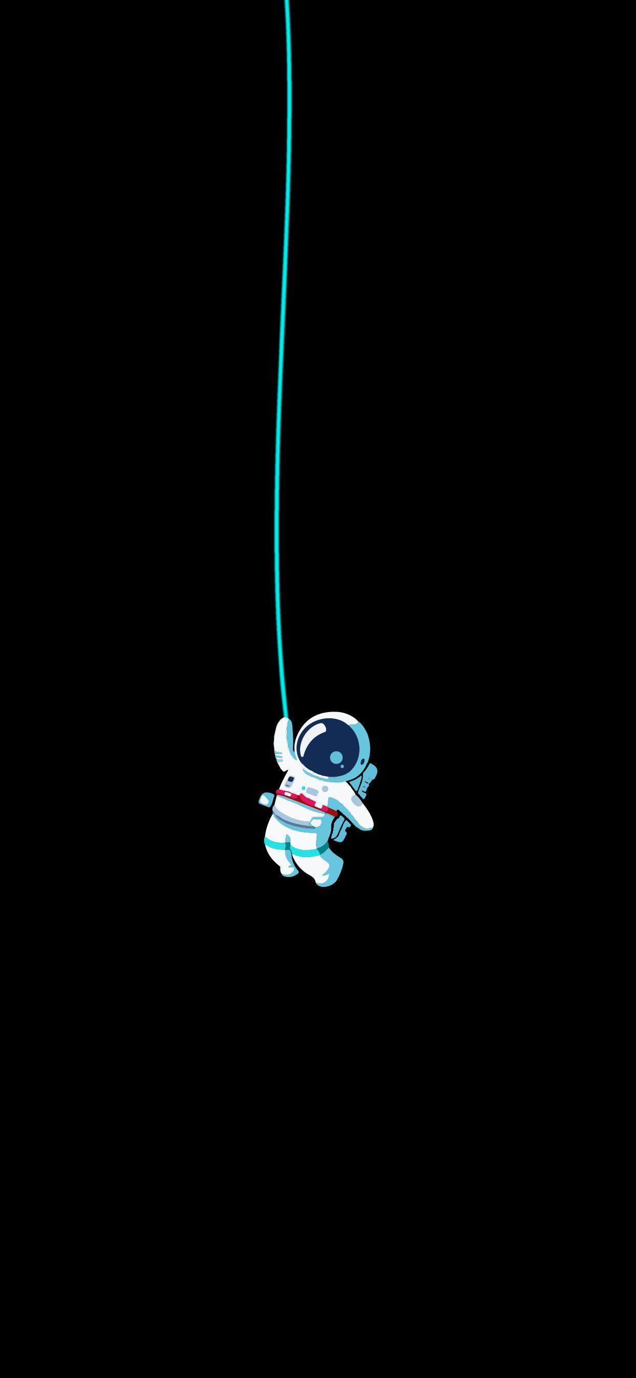 astronaut in space lock screen