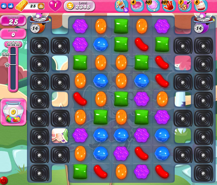Candy Crush Saga level 2345