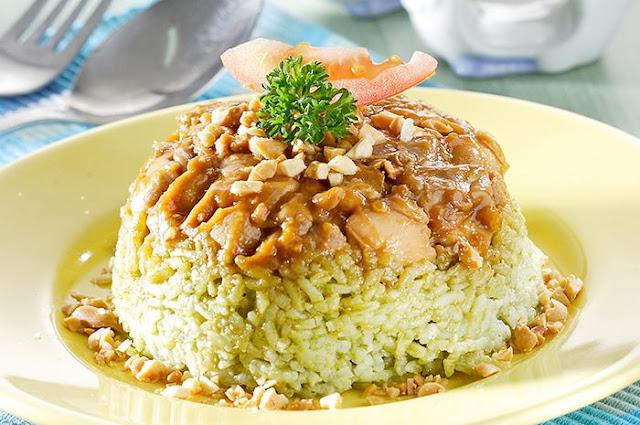Nasi Tim Hijau Ayam Kungpao
