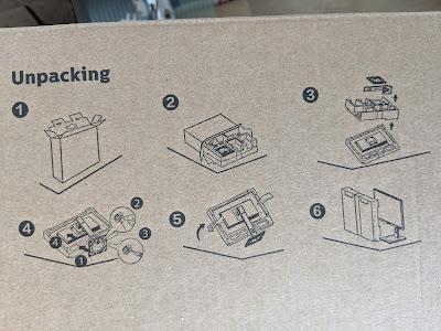 Verpackung Philips Bildschirm