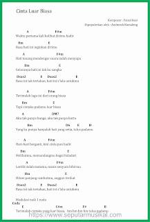 chord cinta luar biasa penyanyi andmesh kamaleng