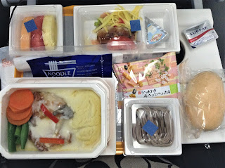 All Nippon Airways Flight meal from Narita to San Francisco