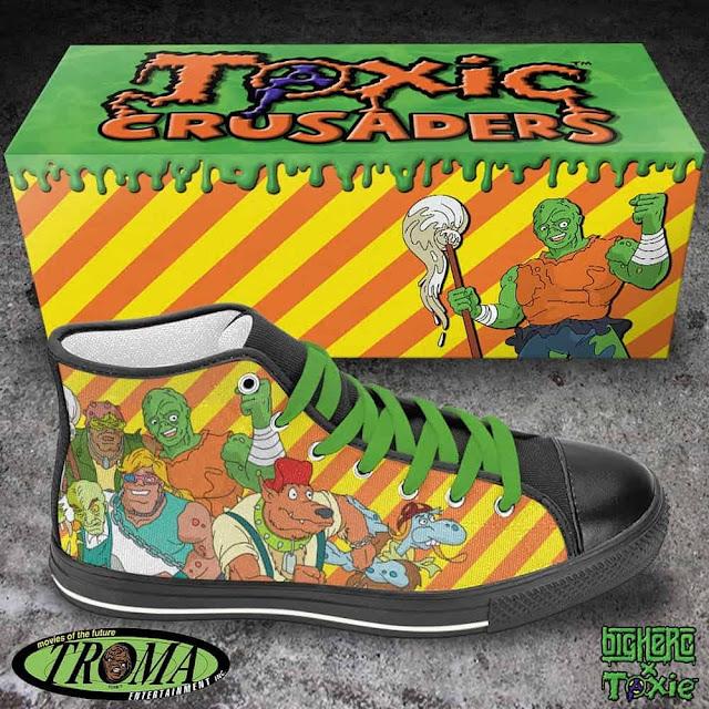 """Big Herc y Troma Entertainement colaboran para crear las """"Toxic Crusaders High Top"""""""