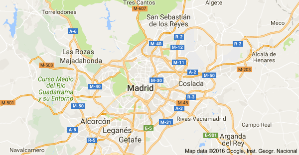 mapa madrid google maps