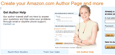 Login Amazon Author Central