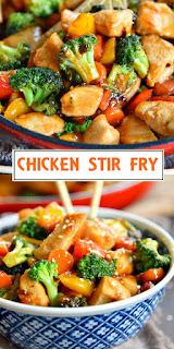 EASY CHICKEN STIR FRY RECIPE #Chickenrecipes