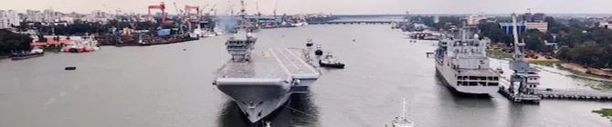 'Reincarnated' Indian Aircraft Carrier, Vikrant, Begins Sea Trials In Kochi Today