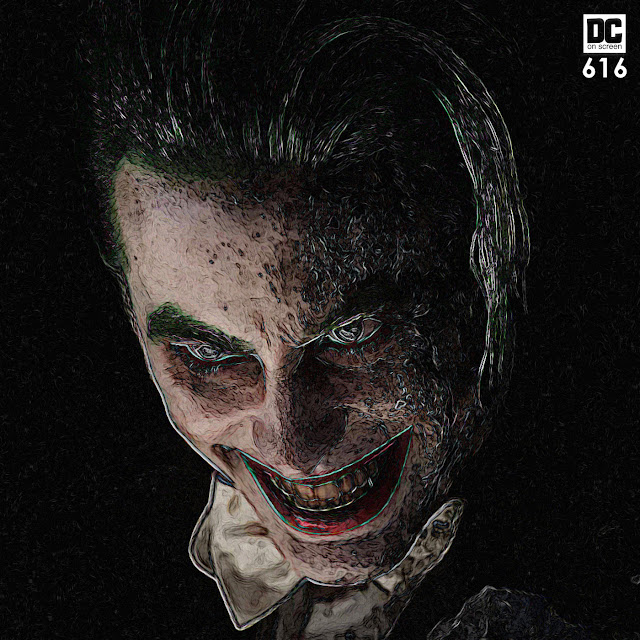 jared Leto as Joker from David Ayer's cut of Suicide Squad. Text: DC on SCREEN #616