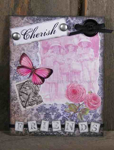Cherish Friends Altered Art