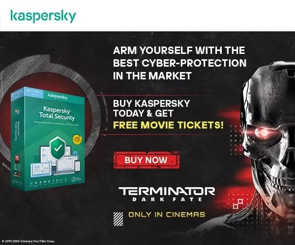 Kaspersky partners with 20th Century Fox for Terminator Dark Fate