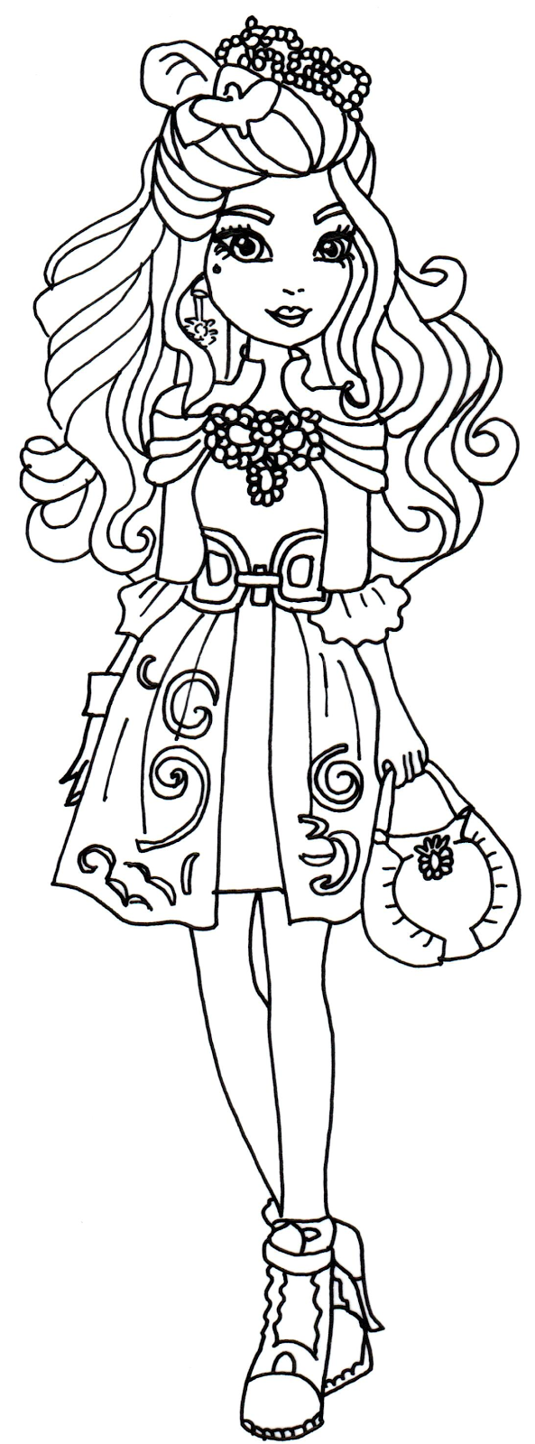 Ever After High Darling Charming Dragon Games Coloring Sheets