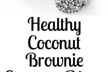 Dark Chocolate Coconut Fudge Brownie Energy Bites-