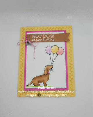 stampin' up, hot dog