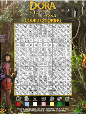 Dora - Coded Colouring - Activity Sheet