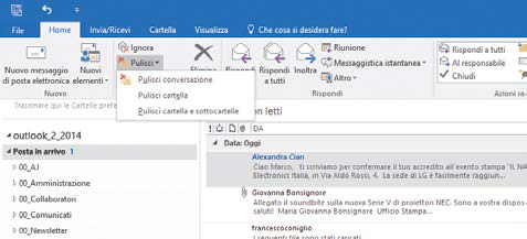 Cancellazione (semi) definitiva posta outlook