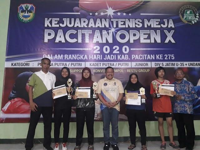 PTMSI Ponorogo Meraih 2 Medali di Pacitan Open X