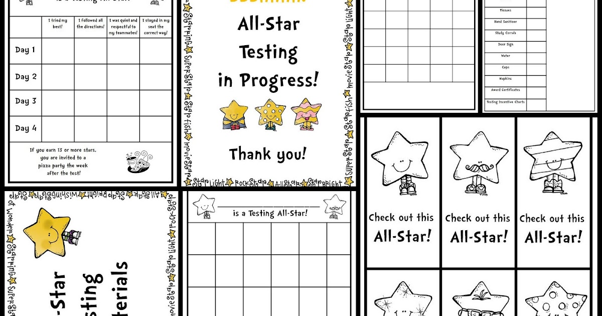 Classroom Freebies: Testing All-Star Freebies!