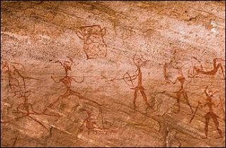 Messages through cave paintings