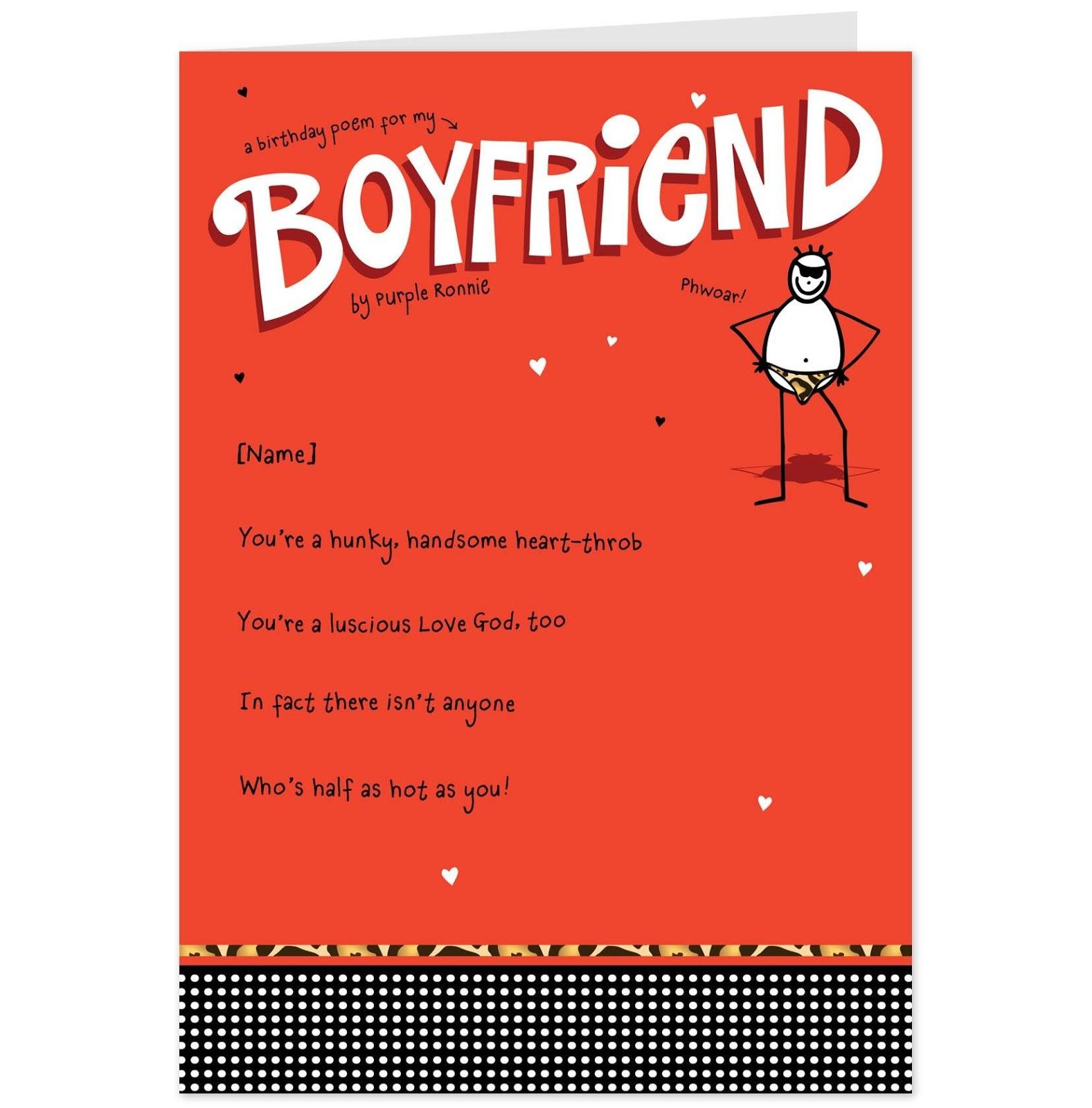 Funny Birthday Poems For A Boyfriend - Birthday