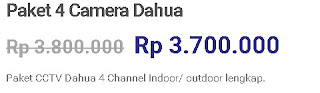 Paket Dahua 4 Camera