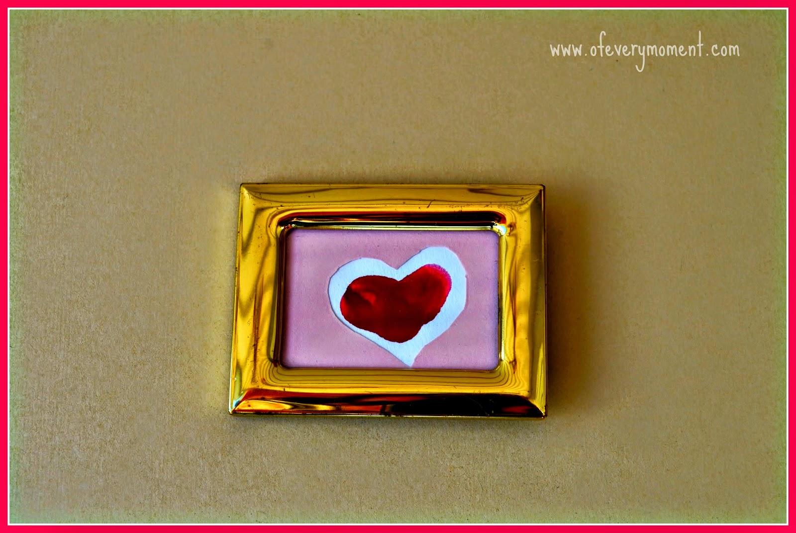 framed art, thumbprint, Valentine's Day Gift