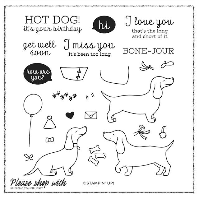 Hot Dog Stampin Up card ideas
