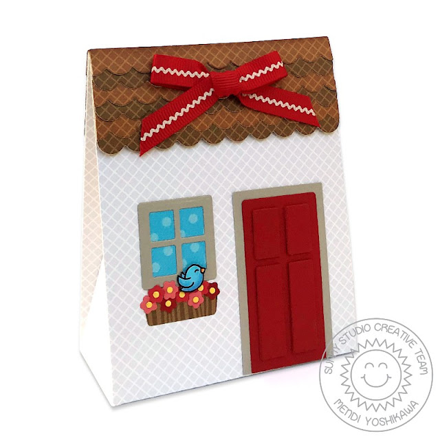 Sunny Studio Stamps: Sweet Treats Everyday Party Gift Bag with House Add-on and magnetic flap closure