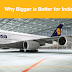 Big is better for Indian Aviation – it is all about time and technology needs