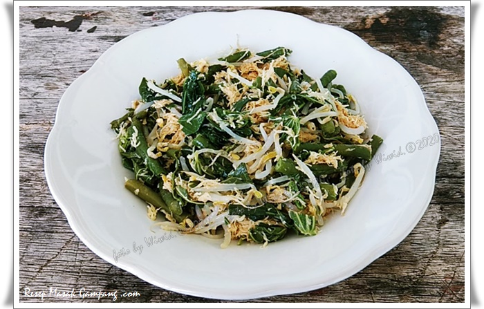 cara membuat urap sayuran