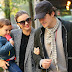 Together again: Miranda Kerr and Orlando Bloom for a walk