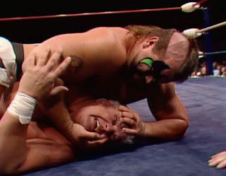WCW / NWA Starrcade 1988 - True Gritt - Road Warrior Animal breaks Dusty Rhodes' face