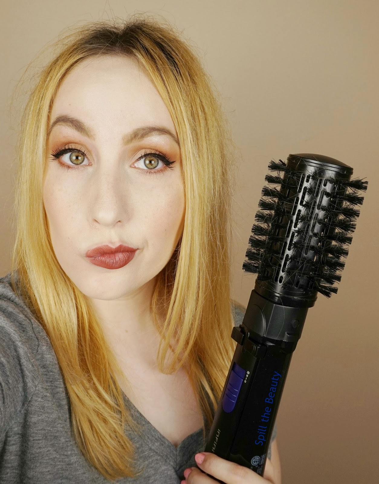 conair infiniti pro spin brush rotating dryer brush review before and after