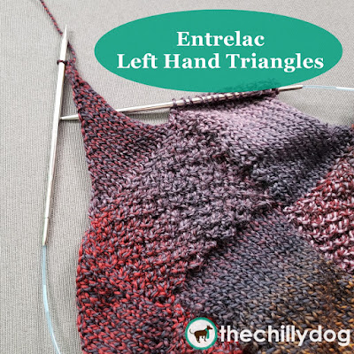 Entrelac Knitting  Video Tutorial - Left Hand (LH) Triangles - LH triangles are almost always worked in stockinette stitch