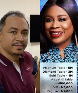 Daddy Freeze reacts to singer Sinach for her show that costs 5 million Naira for a table