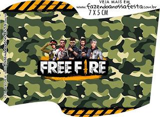 Free Fire: Imprimibles Gratis para Fiestas.