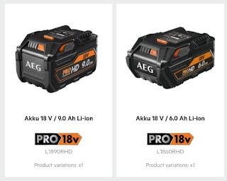HD Akkus AEG Powertools