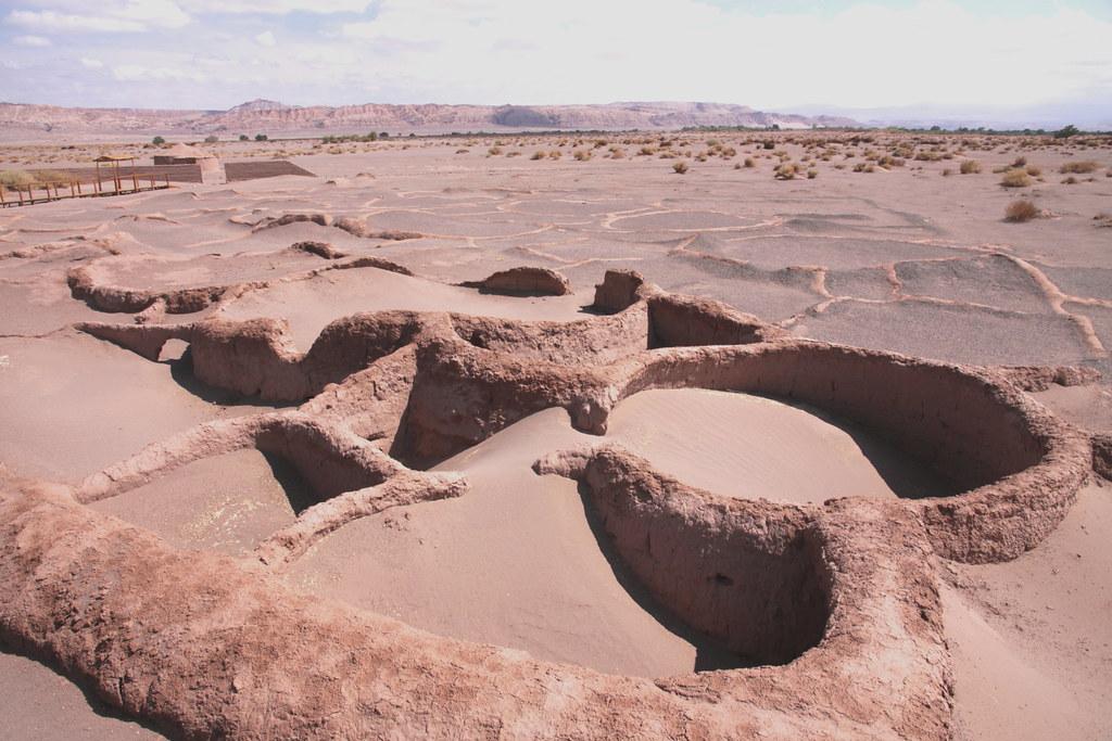 Деревня Тулор в пустыне Атакама в Чили