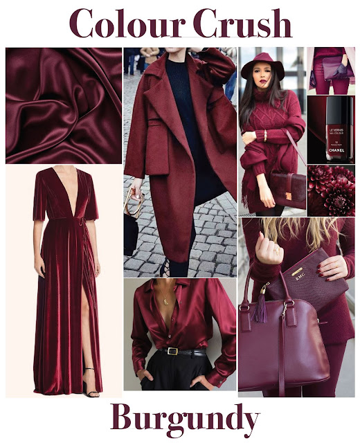 Burgundy colour