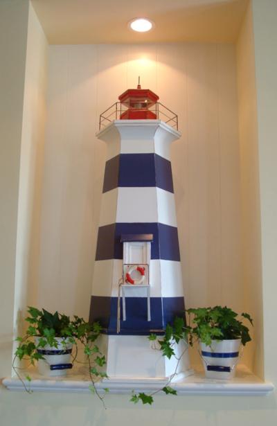 Decorative Lighthouse on Shelf Decor Idea