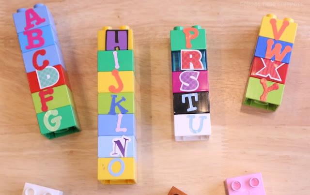 hands-on preschool alphabet activty