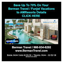 Berman Travel- AMResorts- Funjet Sale 'Till 8/23/18