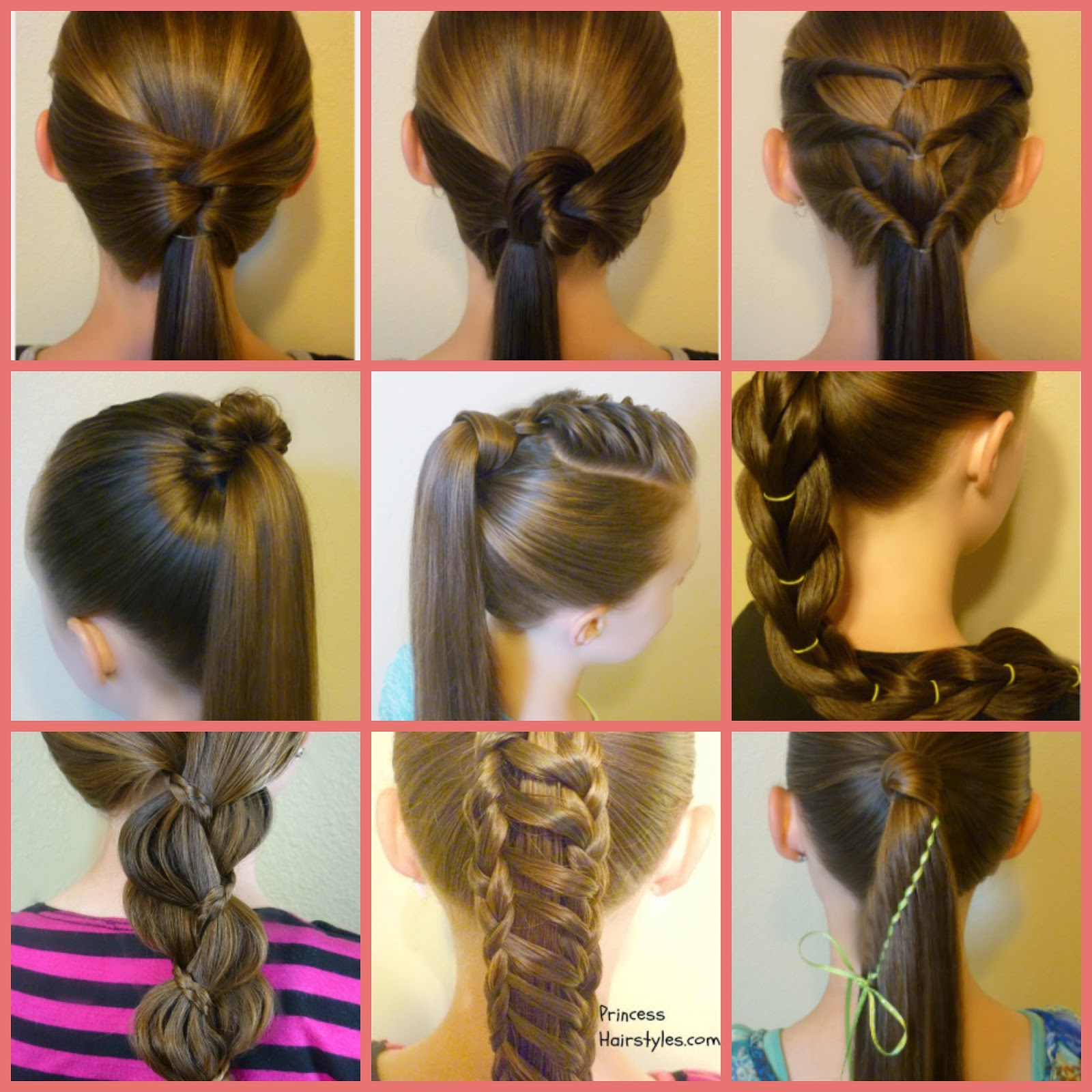 10 easy ponytail hairstyles - hairstyles for girls - princess hairstyles