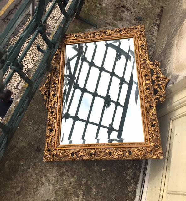 espelho, dourado, vintage, decoração vintage, a Porta Verde, loja vintage