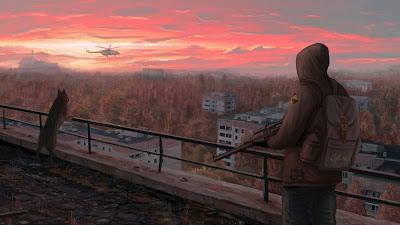 Stalker 2 Landscape Sunset Screen Background