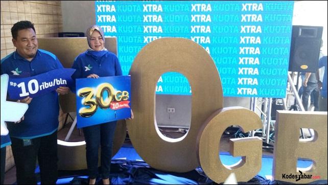 Paket Baru XL Xtra Kuota 30GB Cuma Rp 10 Ribu/Bulan