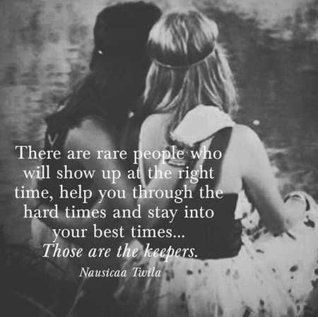 friends are people show up on right time