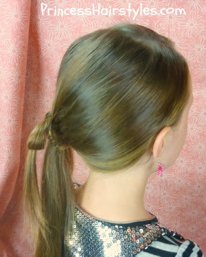 ponytail with bow made from hair